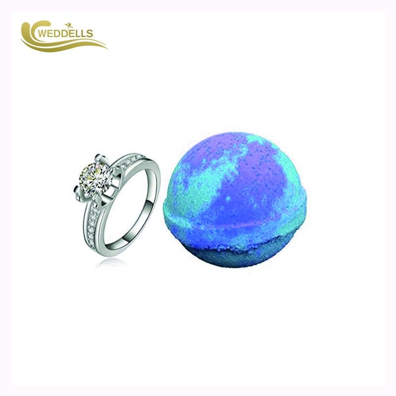 Ring Jewelry Bath Bombs Bath Fizz Blue 160g Surprise for Her OEM Epsom Salt